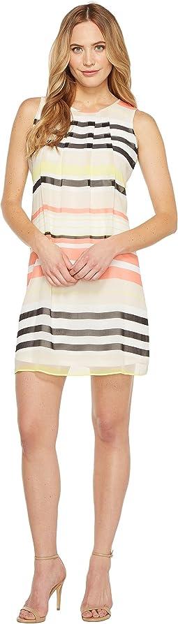 Pleat Front A-Line Dress