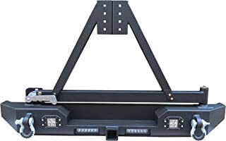 Hunter 87-06 Jeep Wrangler TJ/YJ with Tire Bracket and 4 x 18W LED Rear Bumper