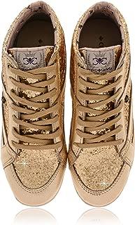 CRAVO & CANELA Starla Gold Glitter Sneakers