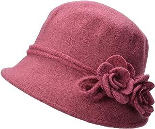 54d01de3ac8 Lawliet Womens Retro Collapsible Soft Knit Wool Cloche Hat Bucket Flower  A466