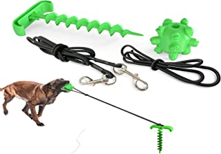 WGTJ Dog toy camping backyard walking/mobile portable pile/high elastic pull rope dog chew molars ball .(Green)