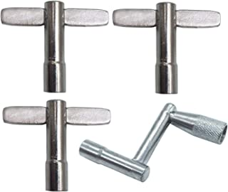 Vincilee 4pack Drum Keys Universal Tuning Keys 1pcs Z type And 3pcs T type with Continuous Motion Speed Key