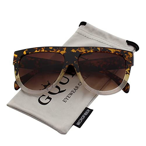 1791b3f398 GQUEEN Fashion Designer Women Sunglasses Oversized Flat Top Square Frame  Retro Gradient Lens MOS9