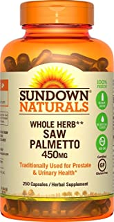 Sundown Saw Palmetto, 450 mg, 250 Capsules (Pack of 2)
