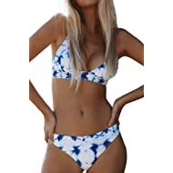 Women's Cosy Bay Lace Up Back Adjustable Two Piece Bikini Sets