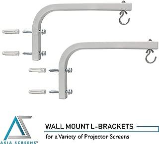 "Akia screens Adjustable Extension 10"" L-Bracket Wall Mount Plate Hook Kit for Universal 4k 8k 3D Projector Screen AK-ZLB10W"