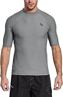 Baleaf Men's Short Sleeve Rashguard Swim Shirt UV Sun Protection UPF 50+