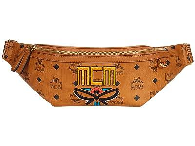 MCM Fursten Tribal Laurel Belt Bag Medium (Cognac) Handbags