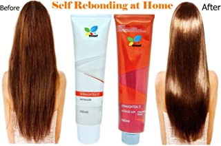 Hair Straightening Cream, STCorps7 Permanent Straight System Hair Straightening Cream Kit Intense Hair Rebonding