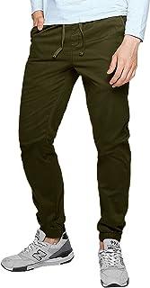 MODCHOK Men's Chino Jogger Pants Casusal Workout Trousers Slim Fit Sweatpants