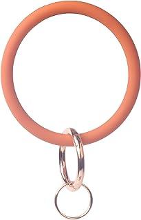 YAKA Silicone Wrist Keychain Circle Bracelet Rubber Bangle Round Keyring Holder