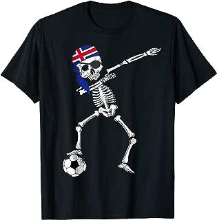 Iceland Pirate Patriotic Dabbing Iceland Soccer Jersey Shirt