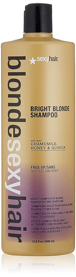 災難十億静けさby Sexy Hair Concepts BLONDE SULFATE-FREE BRIGHT BLONDE SHAMPOO 33.8 OZ by SEXY HAIR