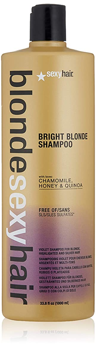 性交識字ファンドby Sexy Hair Concepts BLONDE SULFATE-FREE BRIGHT BLONDE SHAMPOO 33.8 OZ by SEXY HAIR