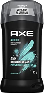 AXE Deodorant Stick for Long Lasting Odor Protection Apollo Sage & Cedarwood Men's Deodorant 48 hours Fresh formulated wit...