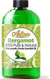 Artizen Bergamot Essential Oil (100% PURE & NATURAL - UNDILUTED) Therapeutic Grade - Huge 1oz Bottle - Perfect for Aromatherapy, Relaxation, Skin Therapy & More!