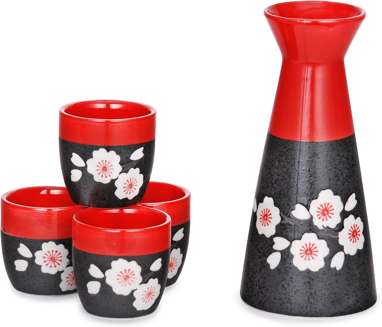 Hinomaru Collection Japanese Style Special price Sake Milwaukee Mall Set With Porcela oz 8 fl