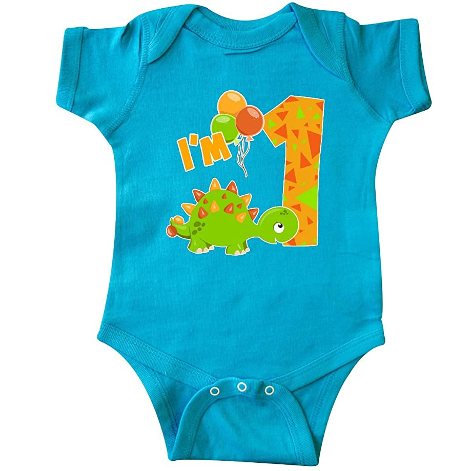 inktastic - Happy Dinosaur First Birthday-Green Infant Creeper 2e78b