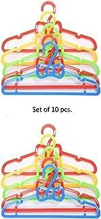 Baby Bucket Plastic Children Hangers Color Set Red Multi - Buy 1 Set of 5 Pcs & Get 1 Set Free
