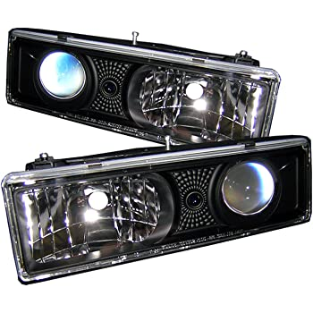 Spyder Auto HD-YD-CCK88-C Chevy C//K Series 1500//2500//3500//Chevy Tahoe//GMC C//K Series 1500//2500//3500//GMC Jimmy//GMC Yukon Chrome Crystal Glass Headlight