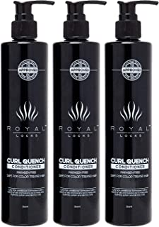 Curly Hair Conditioner Curl Quench by Royal Locks (pack of 3). | Argan Oil and Keratin Infused | Sulfate and Paraben Free for Curly, Colored, Permed, Dry, Grey or Damaged Hair
