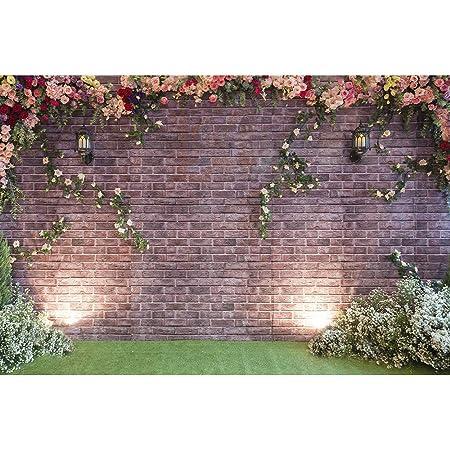 Brick  Stone Floral Happy Birthday Card