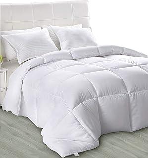 comprar comparacion Utopia Bedding - Primavera-Verano Edredón de Fibra - Fibra Hueca Siliconada, 680 gramo (Primavera-Verano, Cama 80/90)