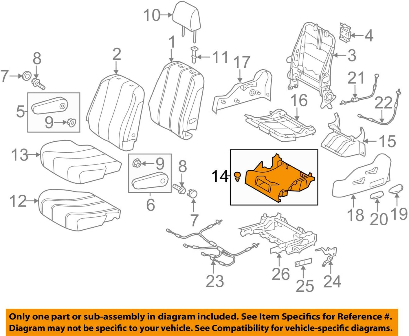 Super sale Special sale item TOYOTA 72908-08020-B0 Seat Cushion Sub Cover Under Assembly