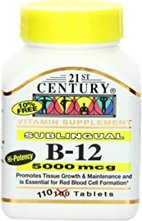 21st Century B-12 5000 Mcg Sublingual Tablets, 110-Count (Pack of 2)