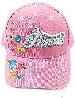 Aesthetinc 刺绣公主花朵青少年儿童棒球帽