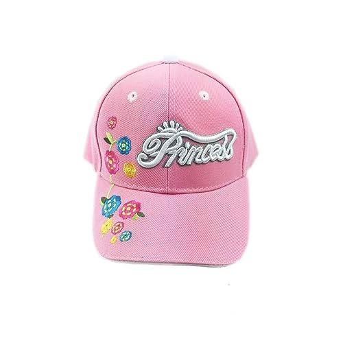 Aesthetinc Embroidered Princess Flowers Junior Kid s Baseball Cap Hat 7282c194430a