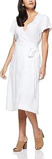 Jag Women's HAMMAM Linen WRAP Dress, White