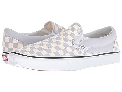 Vans Classic Slip-On ((Checkerboard) Gray Dawn/True White) Skate Shoes