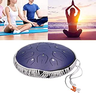 Percussion Drum, Titanium Steel and Rubber Tongue Drum 15 Tone D Steel Purity Beautiful Sound for Yoga Practice for Music ...