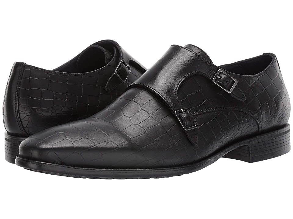 Massimo Matteo Double Monk Croco Classic (Black) Men