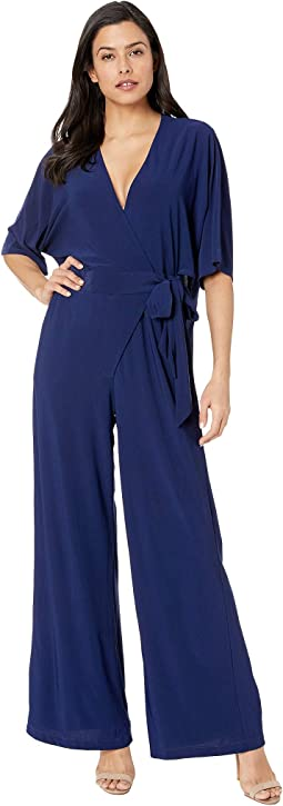 Shirt Tail Dolman Sleeve Solid Jumpsuit
