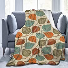 Merry Christmas,Christmas Blankets,Lightweight Throw Blankets,Floral,Onion Flower Leaves Mother Nature in Autumn Art Nouveau Winter Cherry Rural Pattern, Multicolor-(72