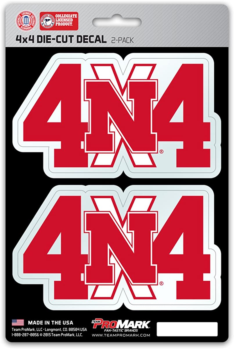 Fanmats NCAA Auto 4x4 Cheap mail order shopping 2-Pack Max 75% OFF Team Decal