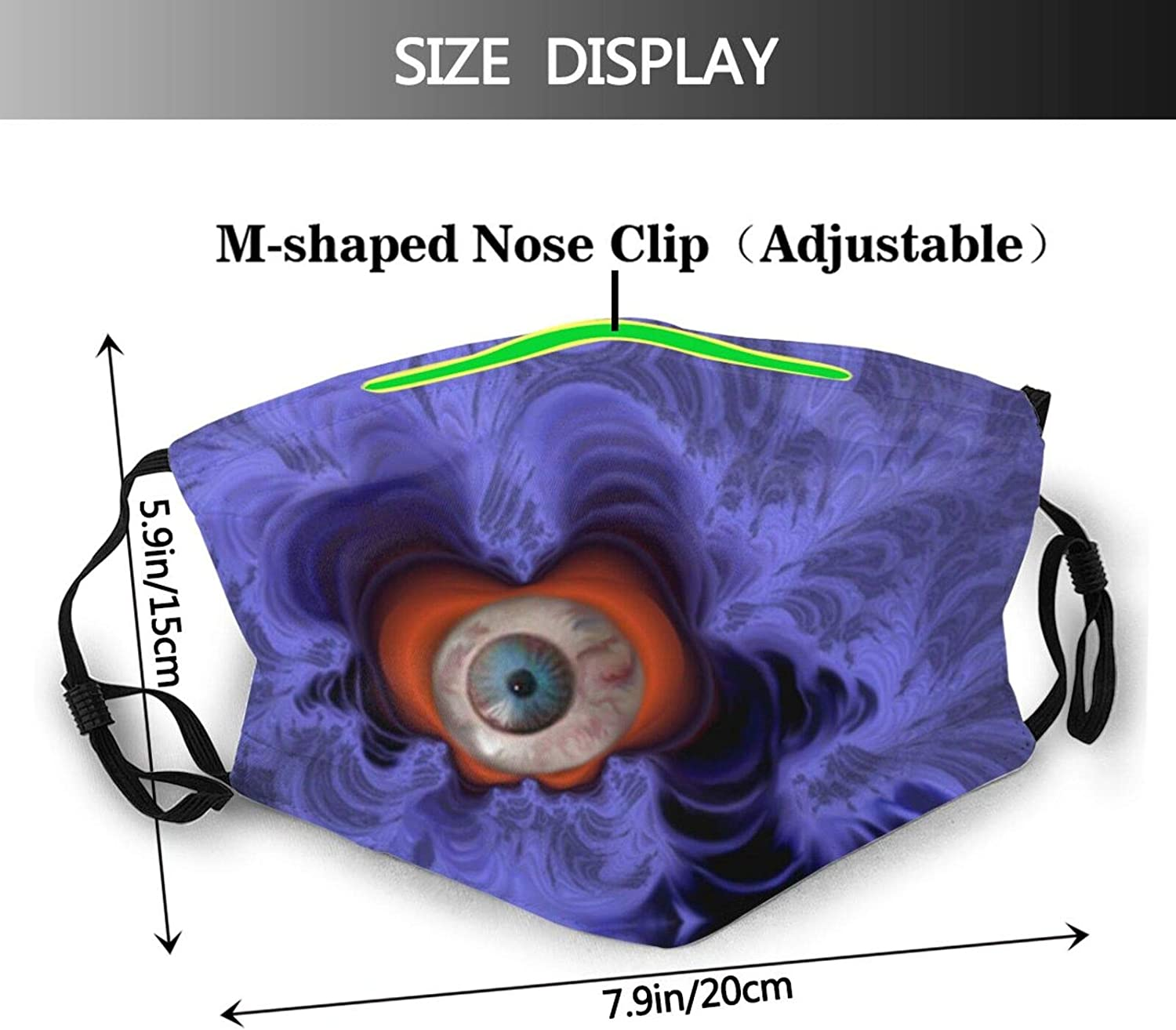 Alien Flying Saucer Face Mask Unisex Balaclava Mouth Cover With Filter Windproof Dustproof Adjustable Mask