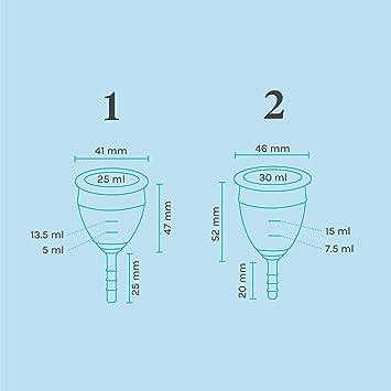 Lunette Copa menstrual reutilizable - Transparente - Modelo 1 para flujo ligero (EN versión)