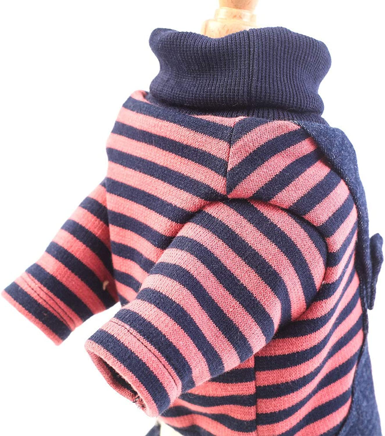 Cute Dog Clothes Thick Warm Puppy Coat Apparel for Walking Jogging Warm Coat,Red,S