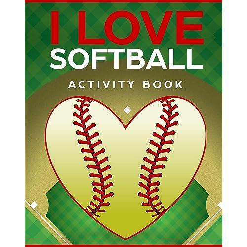 I Love Softball Activity Book: Roadtrip Travel Games On The Go