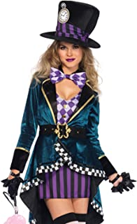 Leg Avenue Women's Delightful Mad Hatter Halloween Costume