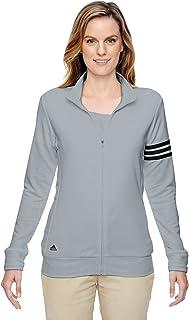 adidas Womens Climalite 3-Stripes Pullover (A191) -Chrome/BLA -M