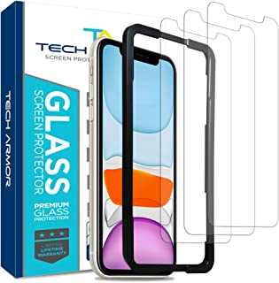 Tech Armor Ballistic Glass Screen Protector for Apple iPhone 11 / iPhone Xr - Case-Friendly Tempered Glass [3-Pack], Hapti...