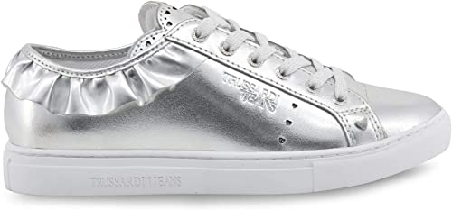 Trussardi chaussures Basse Basse Basse paniers femmes gris (79A00232) 4c3
