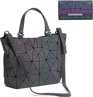 Geometric Luminous Purses and Handbags Holographic Tote Luminesk Purse Reflective Shoulder Bag