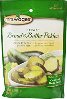 Mrs. Wages Quick Process Pickle Seasoning Mix- 2 Packets (Bread & Butter)
