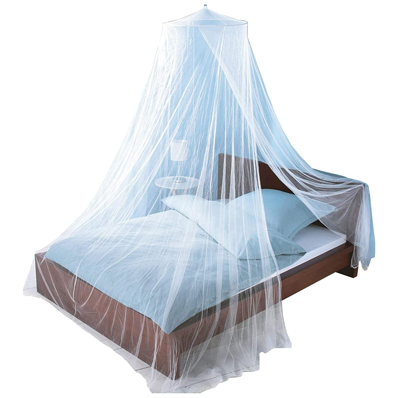 Just Relax Mosquito NET, Elegant Bed Canopy Set Including Full Hanging Kit, Ideal for Indoors or Outdoors, Intended for a for Covering Beds, Cribs, Hammocks (White, Twin/Full)