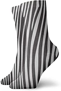 BEDKKJY, Calcetines de Equipo Resumen Animal Leopardo Estampado de Cebra Fabuloso Hombre Calcetines Deportivos Accesorio Calcetín para niños